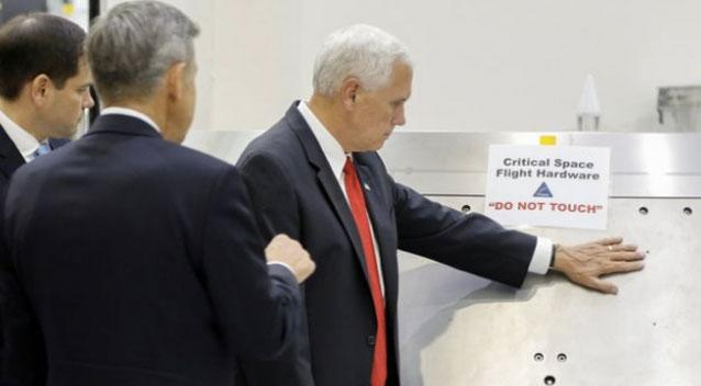US Vice President Mike Pence mocks his own NASA blunder