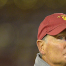 Southern California athletic director Pat Haden looks on during the second half of their NCAA college football game against Arizona, Thursday, Oct. 10, 2013, in Los Angeles. USC won 38-31. (AP Photo/Mark J. Terrill)