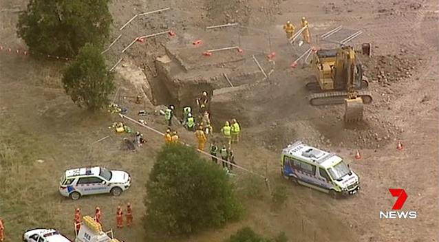 Man killed, another trapped in trench collapse at Ballarat worksite