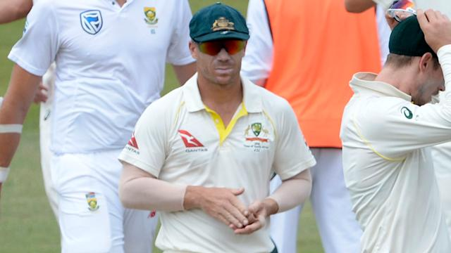 Warner is under fire again. Image Getty