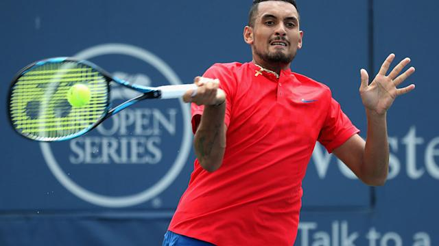 Kyrgios goes down in Masters final debut