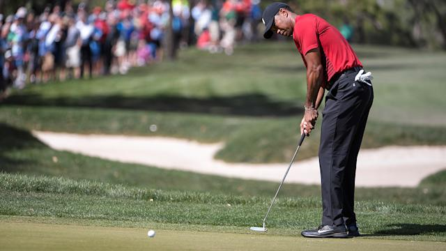 Tiger came up just short. Image Getty