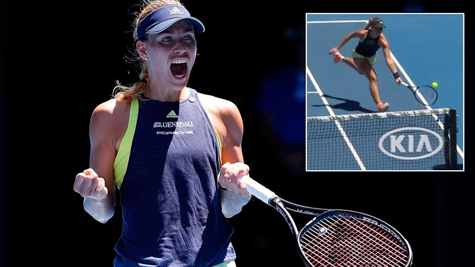 Kerber had to pull out all the tricks to win. Pic Getty  Ch7