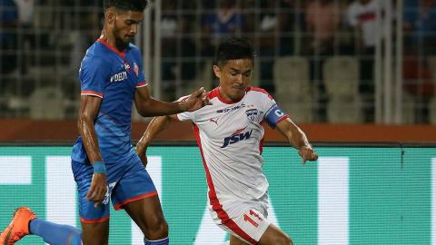 Sunil Chhetri FC Goa Bengaluru FC ISL season 4 2017/2018