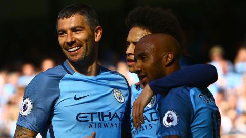Aleksandr Kolarov Leroy Sane Fabian Delph Manchester City