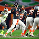 Jan 25, 2015; Phoenix, AZ, USA; Team Irvin quarterback Matt Ryan of the Atlanta Falcons (2) throws a pass against Team Carter in the 2015 Pro Bowl at University of Phoenix Stadium. Mark J. Rebilas-USA TODAY Sports