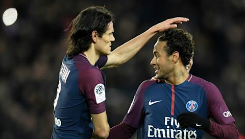 Edinson Cavani Neymar Paris Saint Germain Dijon