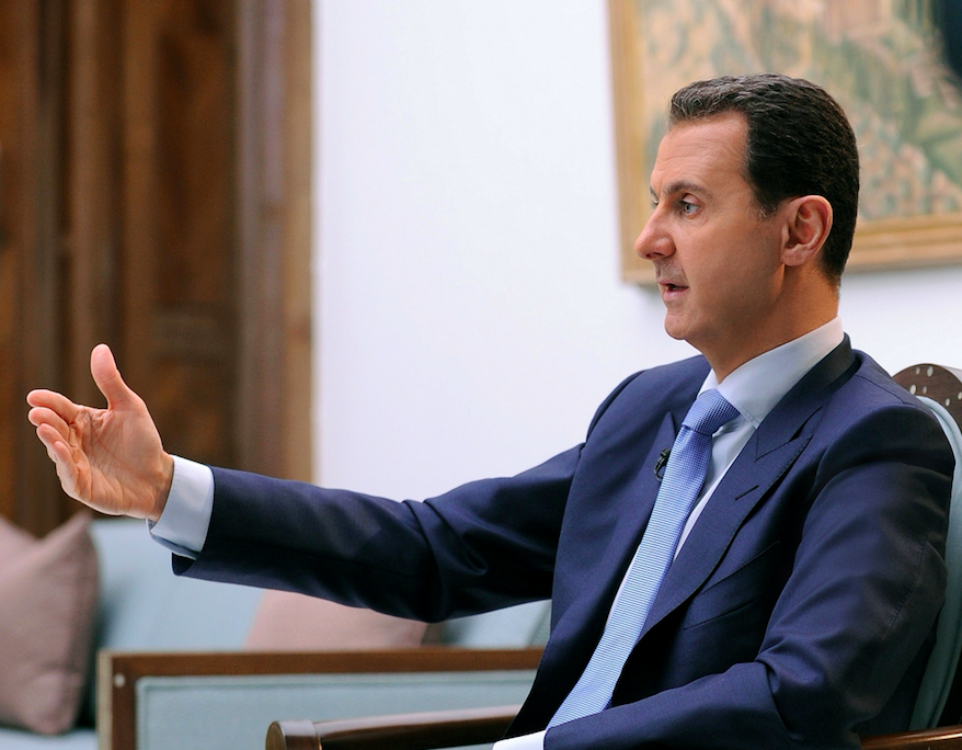 Syria's Assad says chemical attack '100 percent fabrication'
