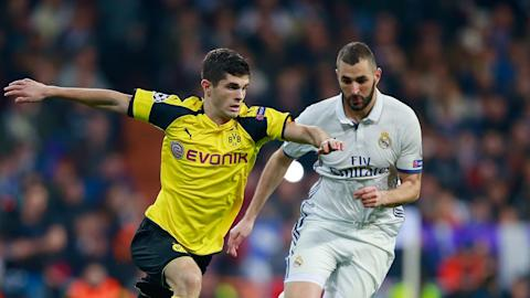 Christian Pulisic Dortmund Real Madrid