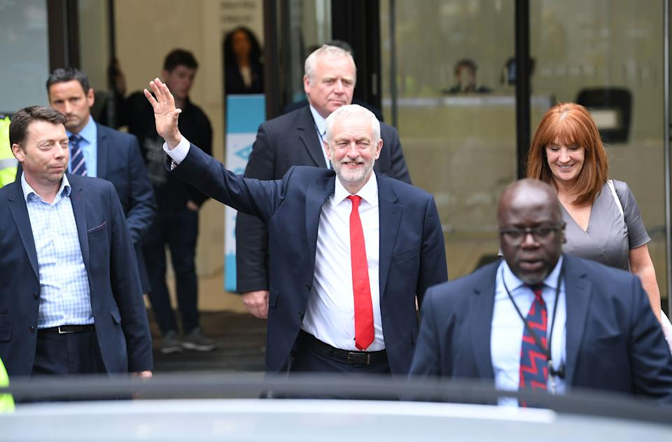 Jeremy Corbyn leaves Labour headquarters on June 9