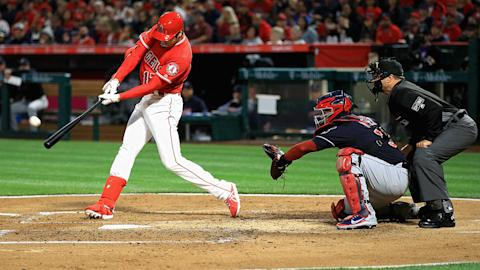 Ohtani hits first ML homer in first Angel Stadium at-bat