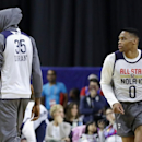 Inside the awkward reunion of Russell Westbrook and Kevin Durant