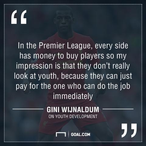 GFX Gini Wijnaldum Liverpool quote