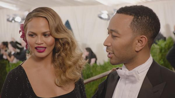 Chrissy Teigen and Jon Legend Look Gorgeous Together at The Met Gala