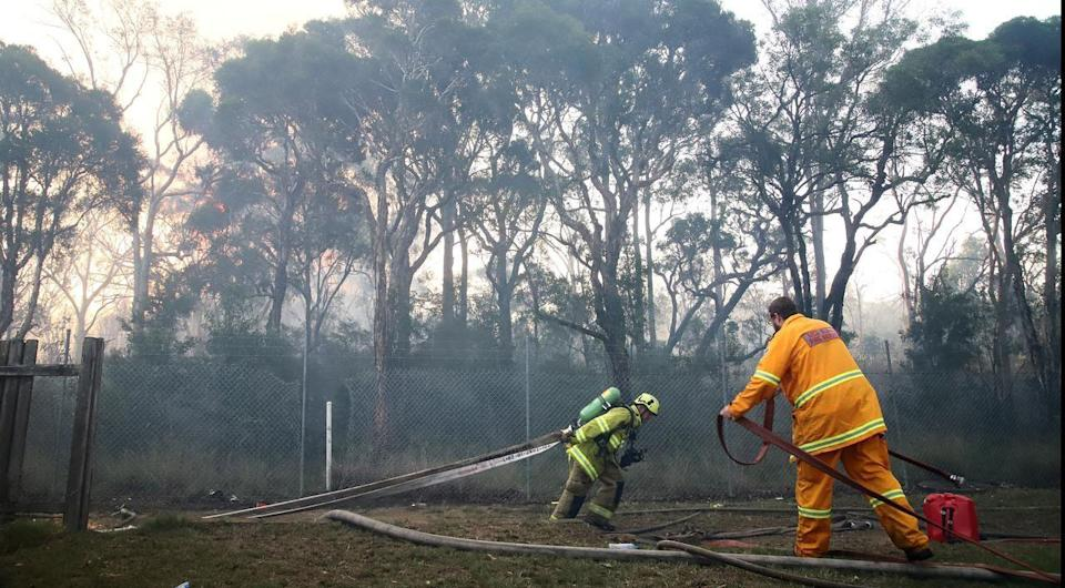 A Bushfire Still Burning in Sydney's West is Being Treated as Suspicious