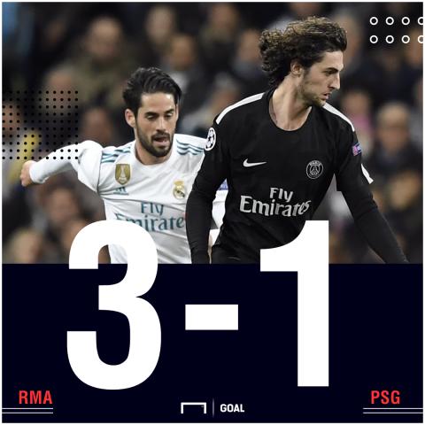 Real Madrid PSG score
