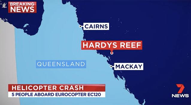 Two dead in helicopter crash off Queensland coast
