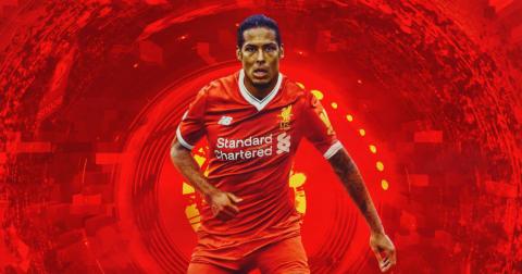 Van Dijk Liverpool graphic