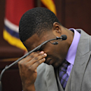 Cory Batey testifies in his own defense during the his trial Monday, Jan. 26, 2015, in Nashville, Tenn. Former players Batey and Brandon Vandenburg are standing trial on five counts of aggravated rape and two counts of aggravated sexual battery. (AP Photo/Larry McCormack, Pool)