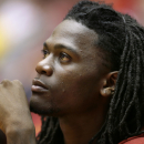 In this Dec. 14, 2014, photo Iowa State forward Jameel McKay sits on the bench during the second half of an NCAA college basketball game against Southern University in Ames, Iowa. McKay, who transferred to Iowa State from Marquette, becomes eligible to play when Iowa State faces Drake on Saturday in Des Moines, Iowa. (AP Photo/Charlie Neibergall)