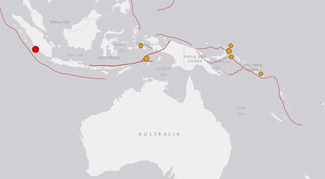 Natural disaster  of 6.4 magnitude hits Sumatra island in Indonesia