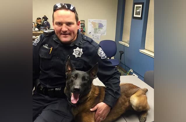 De familia de California, de los asesinatos de la cop para mantener K-9 de la policía de perro Yahoo7 Noticias - Yahoo7 Noticias 2