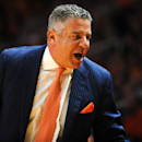 Jan 31, 2015; Knoxville, TN, USA; Auburn Tigers head coach Bruce Pearl during the game against the Tennessee Volunteers at Thompson-Boling Arena. (Randy Sartin-USA TODAY Sports)