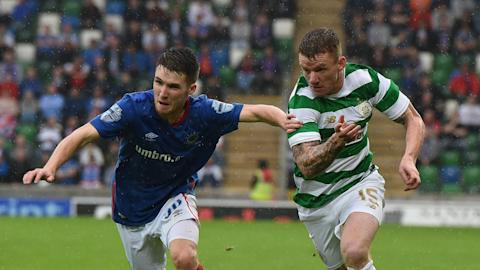 Paul Smyth Linfield Jonny Hayes Celtic