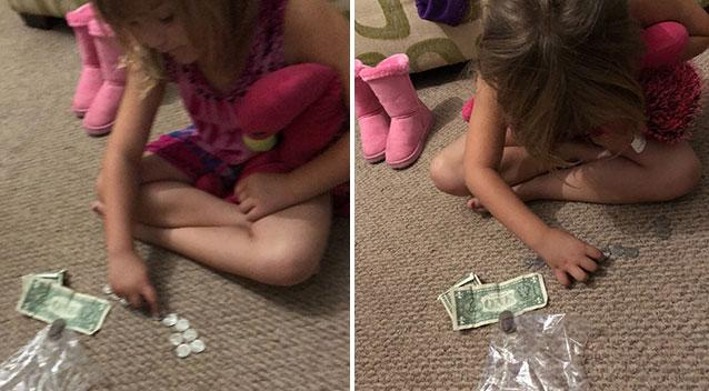 Kindergartner empties piggy bank so classmates can have milk