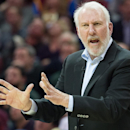 CLEVELAND, OH - NOVEMBER 19: Head coach Gregg Popovich of the San Antonio Spurs yells to his players during the second half against the Cleveland Cavaliers at Quicken Loans Arena on November 19, 2014 in Cleveland, Ohio. The Spurs defeated the Cavs 92-90. User expressly acknowledges and agrees that, by downloading and or using this photograph, User is consenting to the terms and conditions of the Getty Images License Agreement. (Photo by Jason Miller/Getty Images)