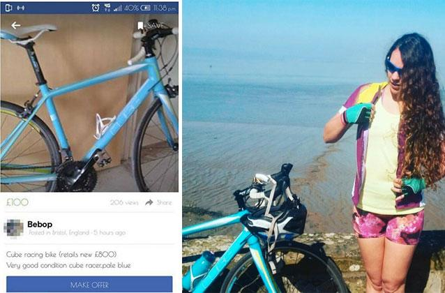 Bristol cyclist steals back her own £800 bike in sting