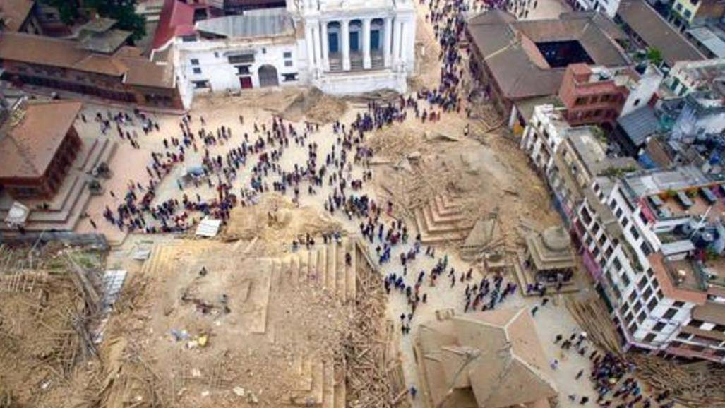 An Aerial View of Earthquake Damage in Kathmandu