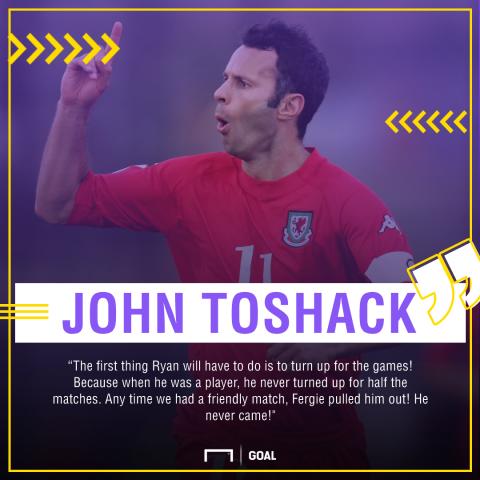 Ryan Giggs John Toshack never played friendly games