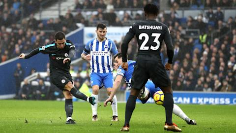 Michy Batshuayi Eden Hazard Chelsea Brighton Premier League