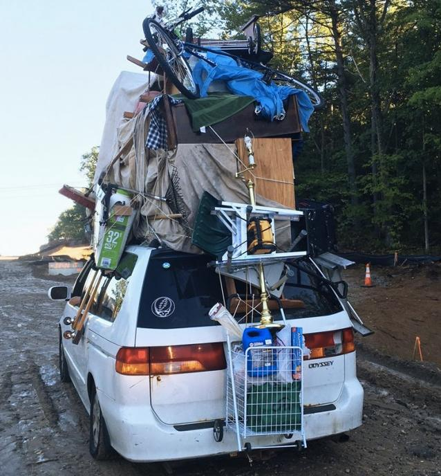 New Hampshire State Police pull over LOADED minivan