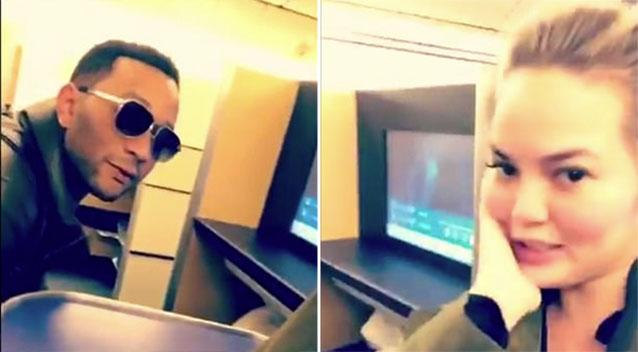 Chrissy Teigen Live-Tweets 'Flight to Nowhere' After Shocking Discovery on Plane