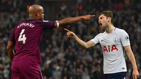 Vincent Kompany Ben Davies Tottenham Manchester City Premier League
