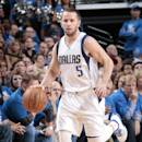 DALLAS, TX - APRIL 26: Jose Juan Barea #5 of the Dallas Mavericks handles the ball against the Houston Rockets during Game Four of the Western Conference Quarterfinals of the 2015 NBA Playoffs on April 26, 2015 at the American Airlines Center in Dallas, Texas. (Photo by Glenn James/NBAE via Getty Images)