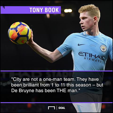 Kevin De Bruyne THE man Tony Book