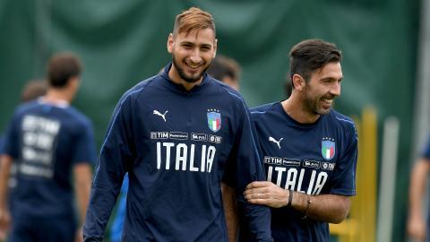 Gianluigi Donnarumma Gianluigi Buffon Italy WC Qualifying Europe 10052017