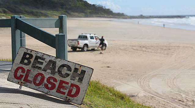 The beaches have been closed. Source Getty Images  Stock image