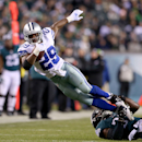 PHILADELPHIA, PA - DECEMBER 14: DeMarco Murray #29 of the Dallas Cowboys is tackled during the game against the Philadelphia Eagles at Lincoln Financial Field on December 14, 2014 in Philadelphia, Pennsylvania.  (Photo by Mitchell Leff/Getty Images)