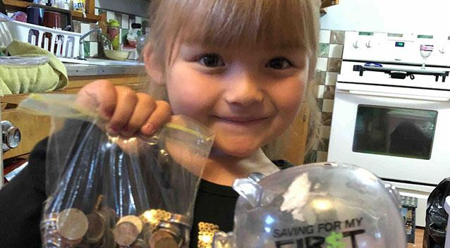 Kindergartner breaks piggy bank to help classmate in need pay for milk