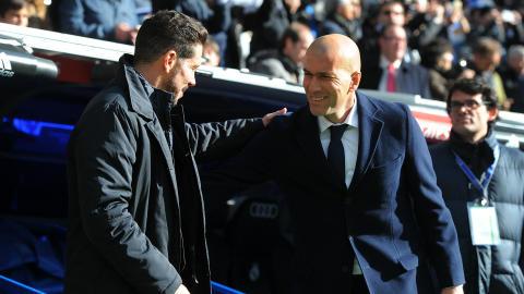 Diego Simeone Zinedine Zidane Real Madrid Atletico Madrid La Liga