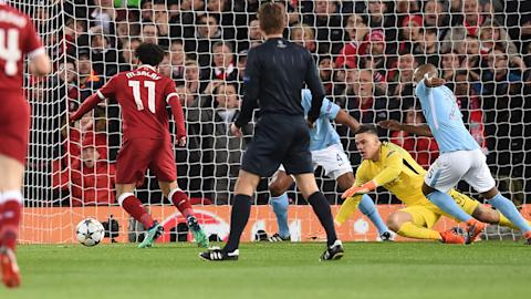 Salah Ederson Liverpool Man City 04042018 Champions League QF