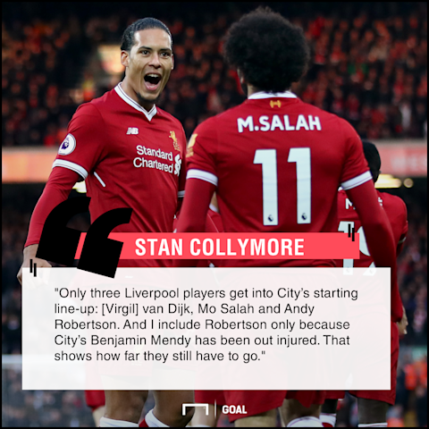 Liverpool only three players in Manchester City team Stan Collymore