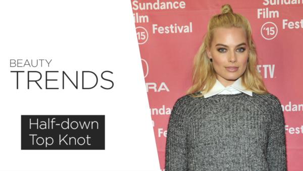 The Breakdown: Half-down Top Knot
