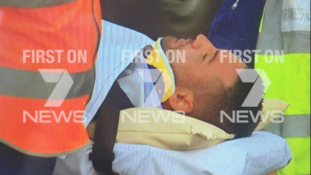 Salim Mejaher hospitalised en route to court