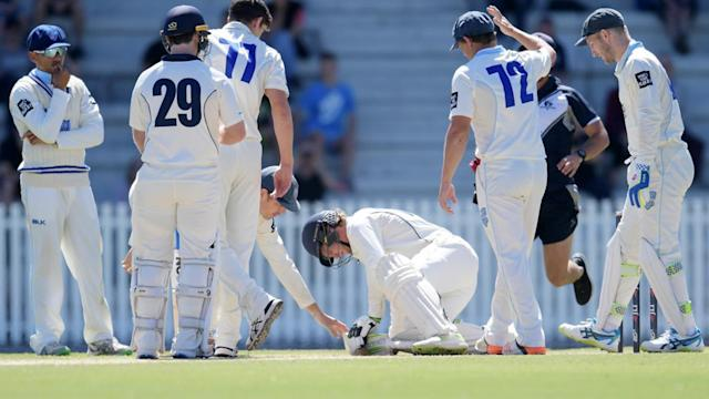 Sean Abbott bouncer fells batsman in chilling Hughes reminder