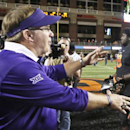 TCU's Gary Patterson and Oklahoma State's Mike Gundy have a major matchup on Saturday. (Getty Images)